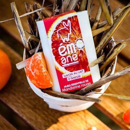 Savon au lait d'ânesse - Huile essentielle de mandarine rouge